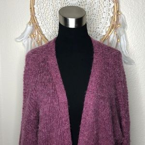 Free People Oversized Mauve Cardigan Size M